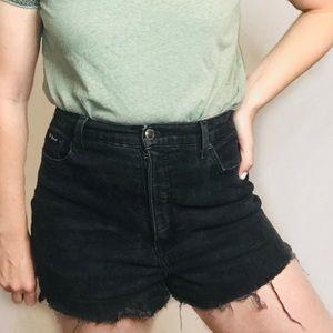 Route 66 | Vintage High Rise Cut Off Shorts